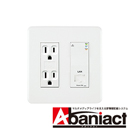 Abaniact 情報コンセント Cat.5e (LAN/Wi-Fi) AC-22LW-01